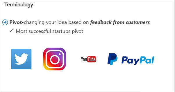 Most successful startups pivot